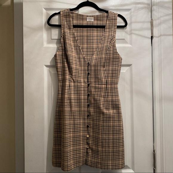 Aritzia sleeveless pinafore dress size S